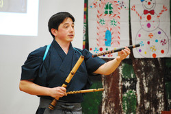 Teaching about Japanese flute