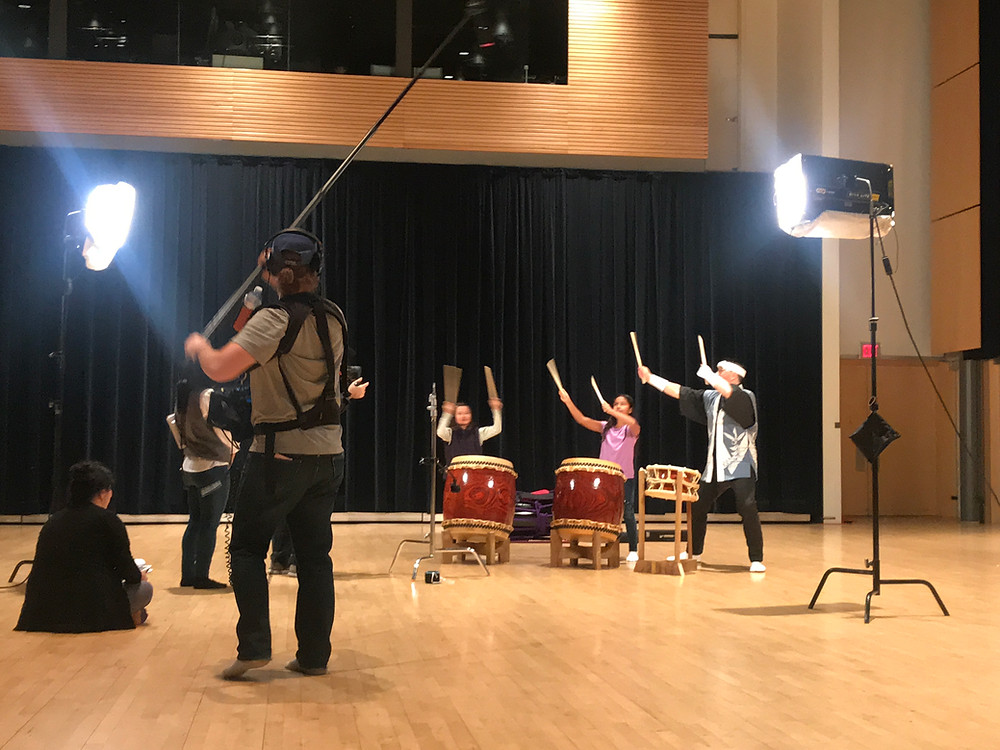 TVO Kids: It's my party episode filming at JCCC - Taiko