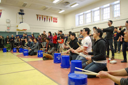 Learning about taiko in Toronto