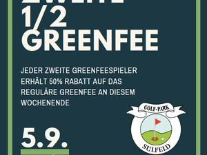 Jeder Zweite 50% Rabatt auf das Greenfee