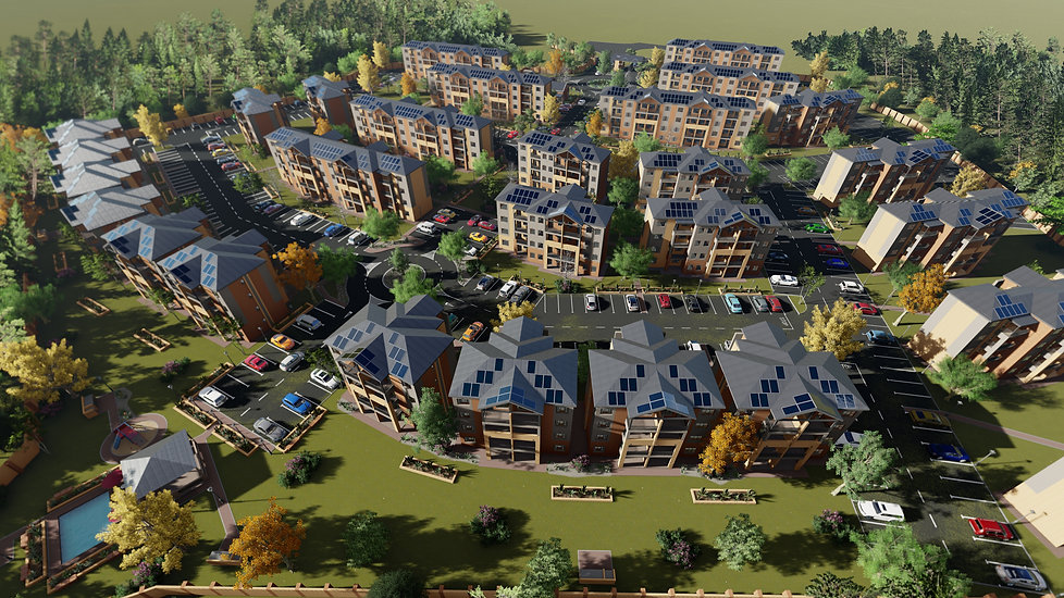 Zambezi Manor is a residential estate development/ housing development designed by Hub Architects and is located in Derdepoort, Pretoria, South Africa