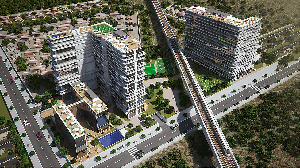 Centurion Towers is a concept design of a Mixed-use building designed by Hub Architects and is located in Centurion, Pretoria, South Africa