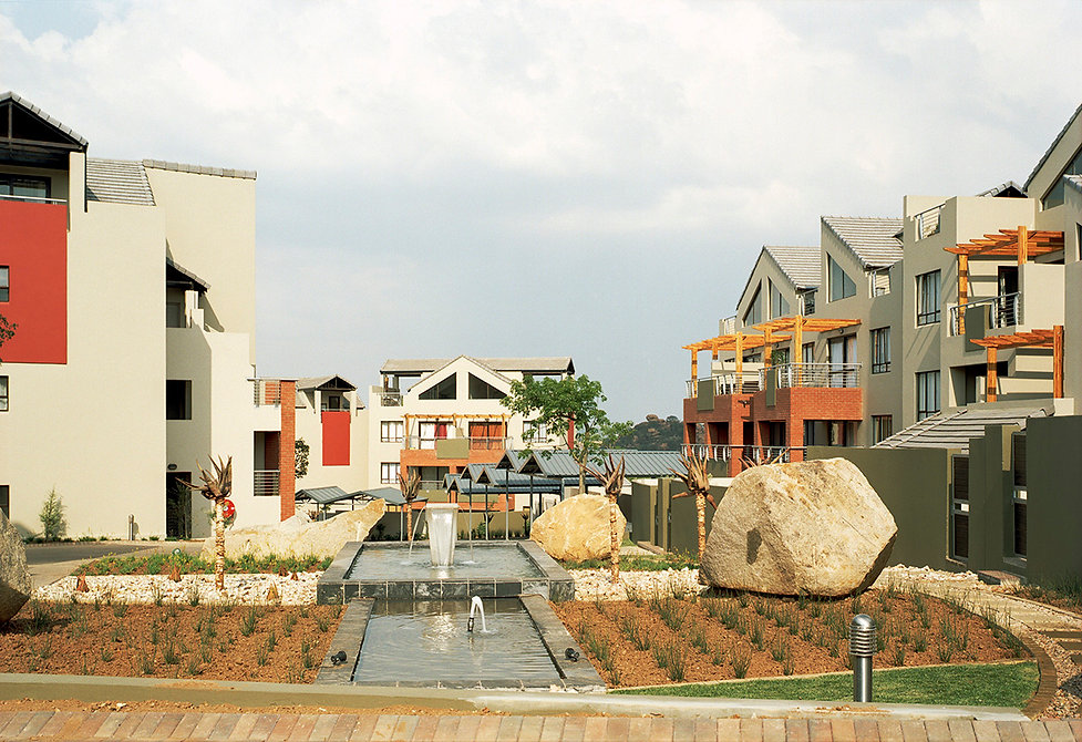 Tinza Lifestyle Estate is a residential development designed by Hub Architects and is located in Lone Hill, Johannesburg, South Africa