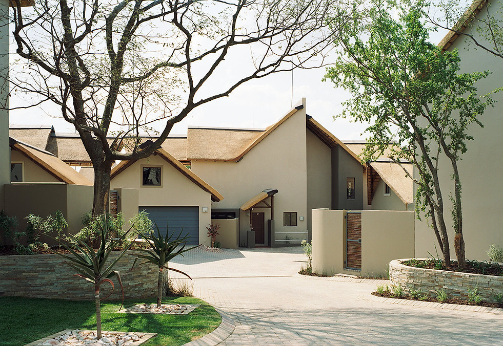 Sibiti Private Estate is a urban housing estate designed by Hub Architects and is located in Witkoppen, Johannesburg, South Africa