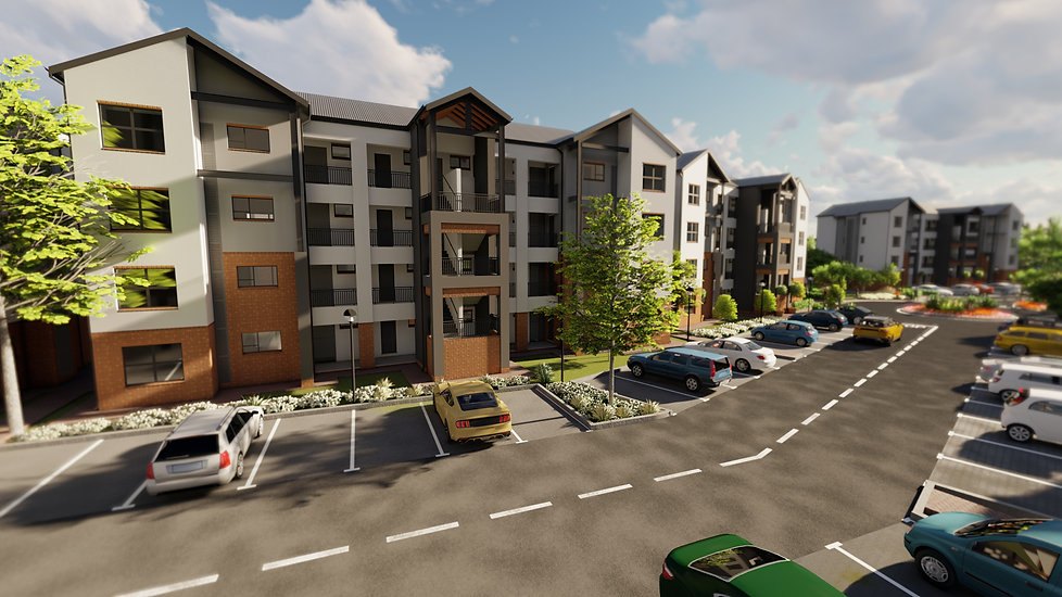 The Aura is a residential development designed by Hub Architects and is located in Northgate, Randburg, Johannesburg, South Africa