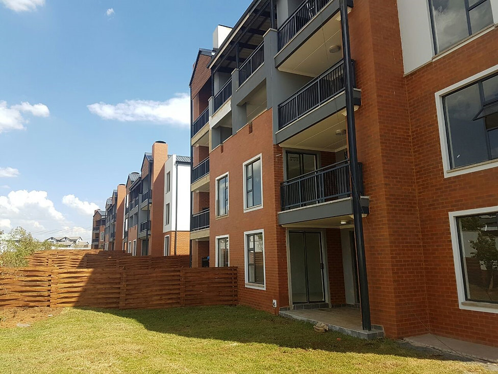 The Oval Luxury Apartments is a residential development designed by Hub Architects and is located in Pretoria East, South Africa