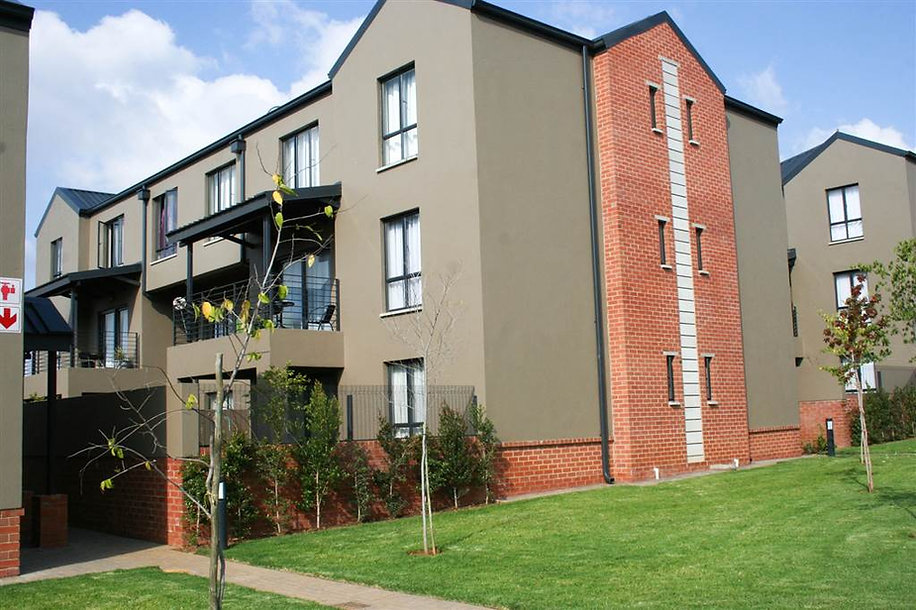 The Parks Apartments is a residential housing estate designed by Hub Architects and is located in Kempton Park, South Africa