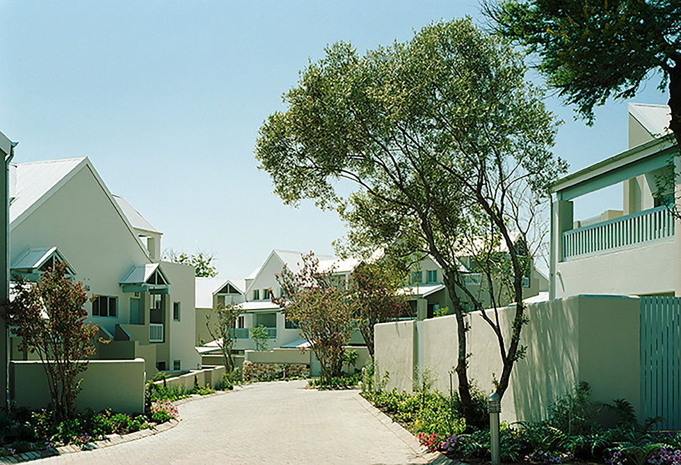 Stonewood Estate is a residential development designed by Hub Architects and is located in Fourways, Johannesburg, South Africa