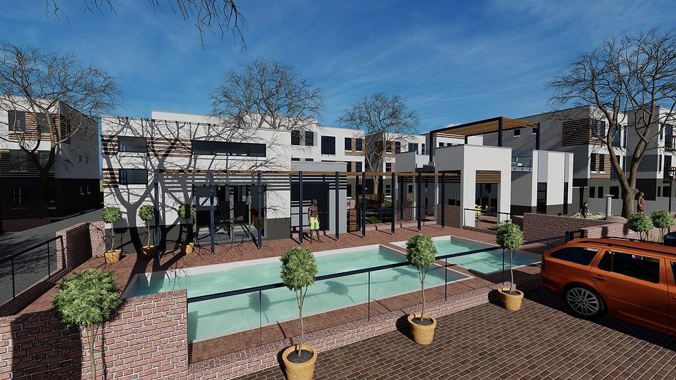 Residential Estate/ urban development designed by Hub Architects