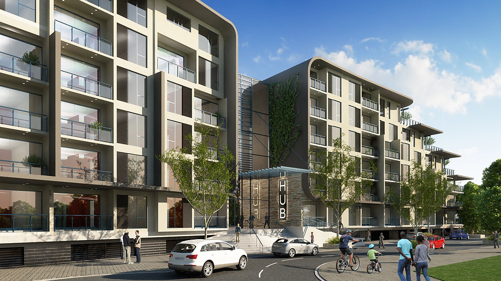 Muswell Drive is a concept design of a Mixed-used building designed by Hub Architects and is located in Bryanston, Johannesburg, South Africa