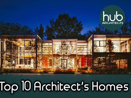 Top 10 Architect's Homes around the world