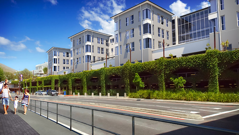 Ports Edge was an office complex before being turned into a residential development designed by Hub Architects. The Estate is located in Waterfront, Cape Town, South Africa
