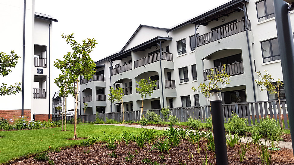 Chartwell Apartments is a residential development designed by Hub Architects and is located in Fourways, Johannesburg, South Africa