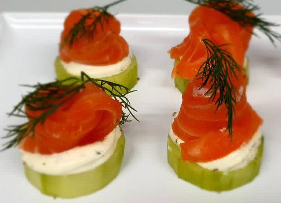 Cured Salmon with Horse Radish Cream