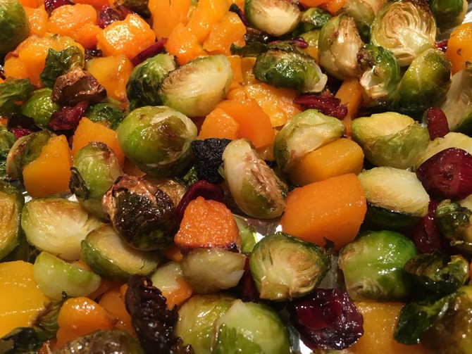 Roasted Brussel Sprouts with Butternut Squash Will Convince You to LOVE Your Veggies!