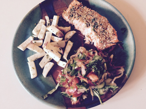 Two Versions of Baked Salmon