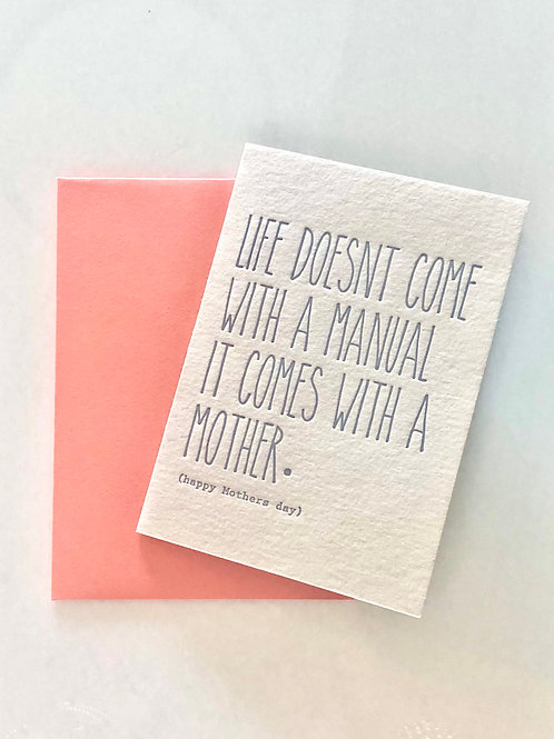 Mother's Day Pun Card