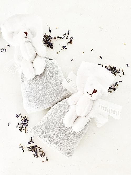 Lavender Bear Linen Sachets
