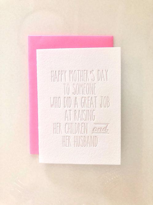 Mother's Day Joke Card