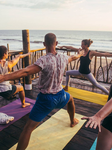 Daily yoga classes with an ocean view