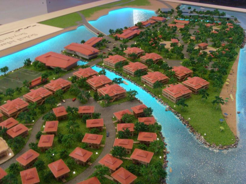 Model of Soleil island