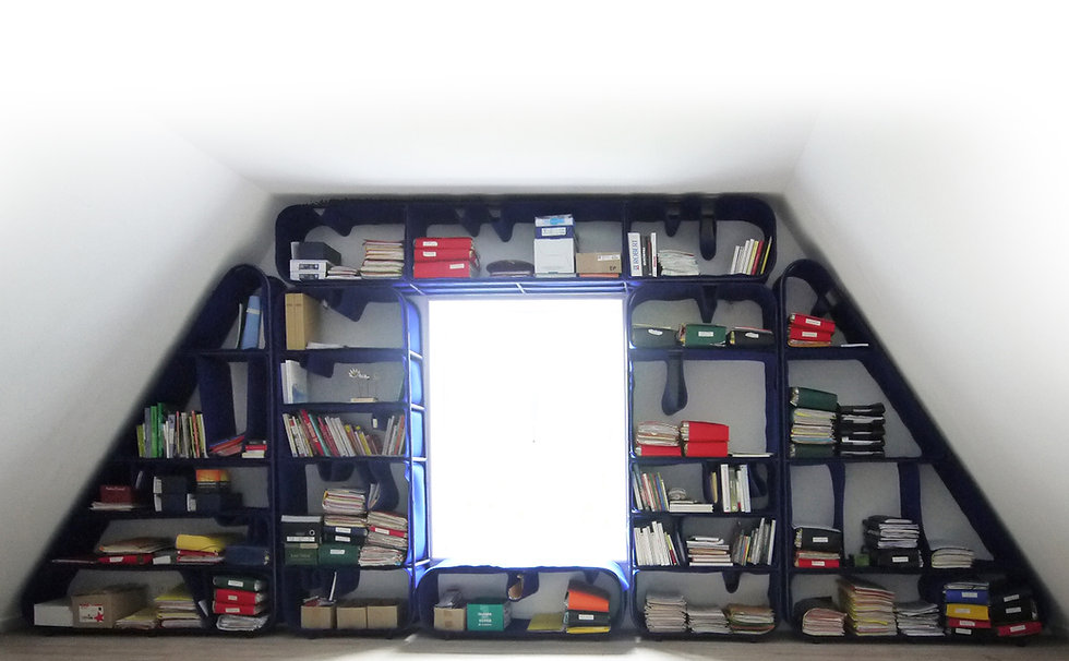 La bibilothèque mille-feuille Le Design Français