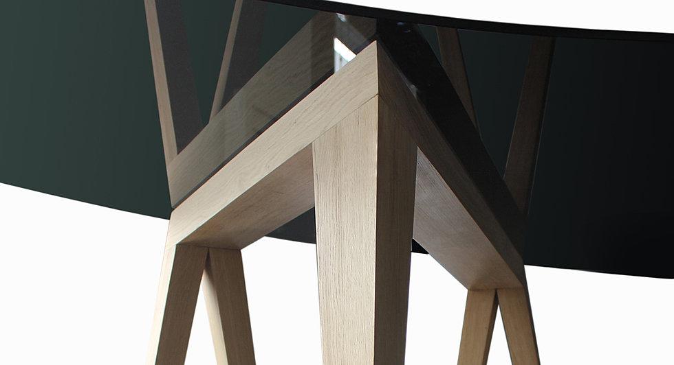 le bureau demi lune. Black Bedroom Furniture Sets. Home Design Ideas