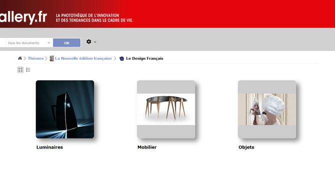Le Design Français, référencé par le V.I.A parmi les nouvelles maisons d'édition.