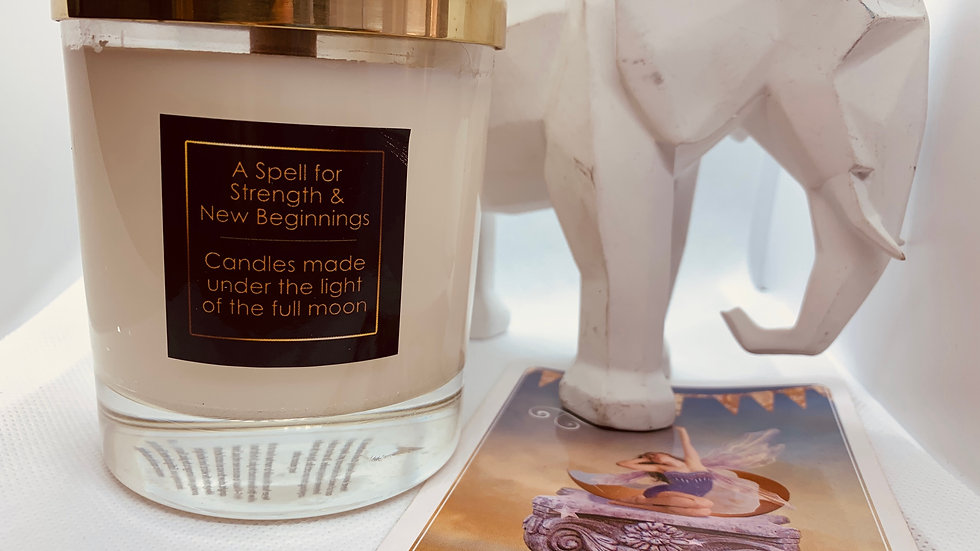 A Spell for Strength & New Beginnings - Hand Poured Soy Wax Candle