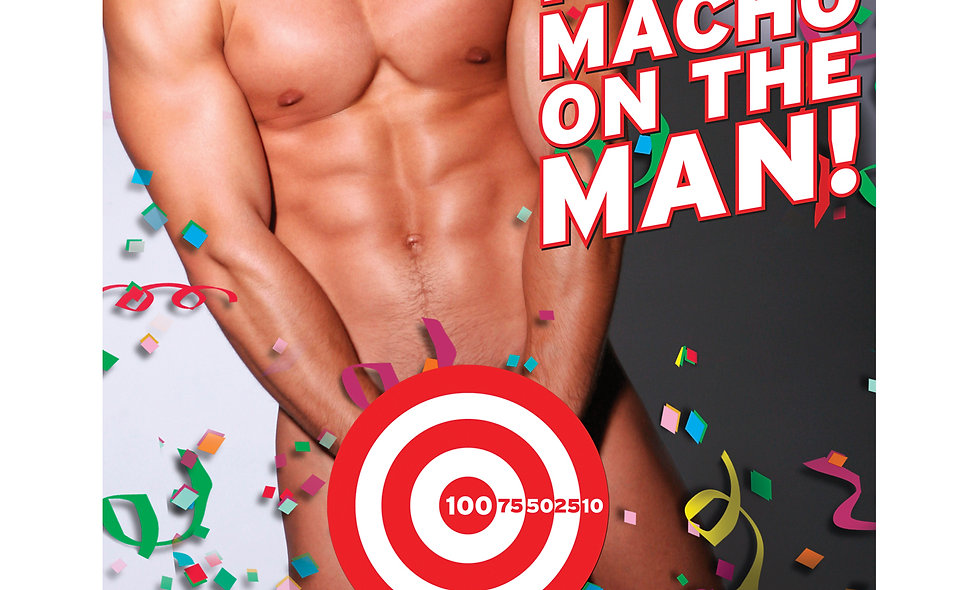 Bachelorette Party Favors Pin the Macho on the Man