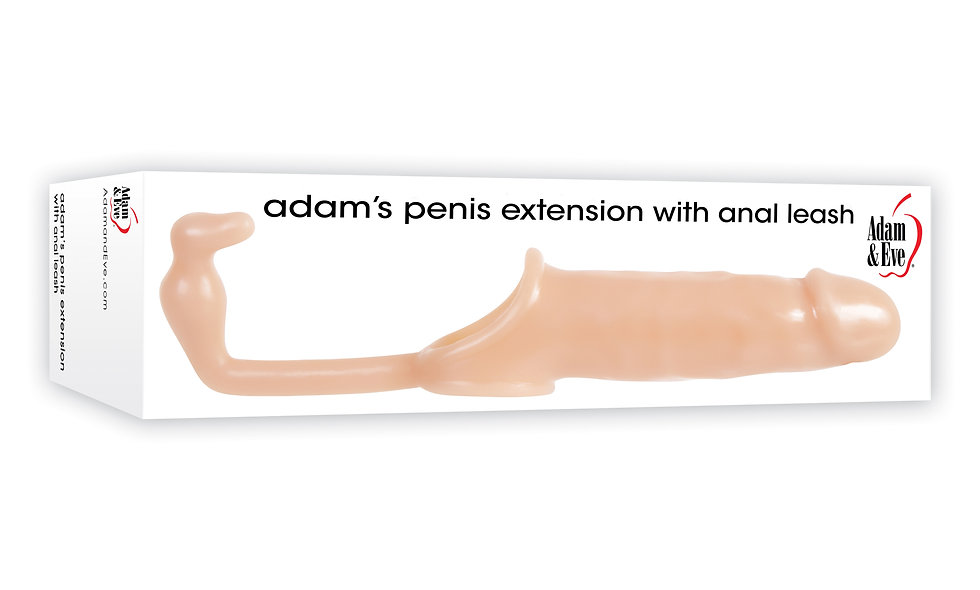 Adam and Eve Adam's Penis Extension With Anal Leash