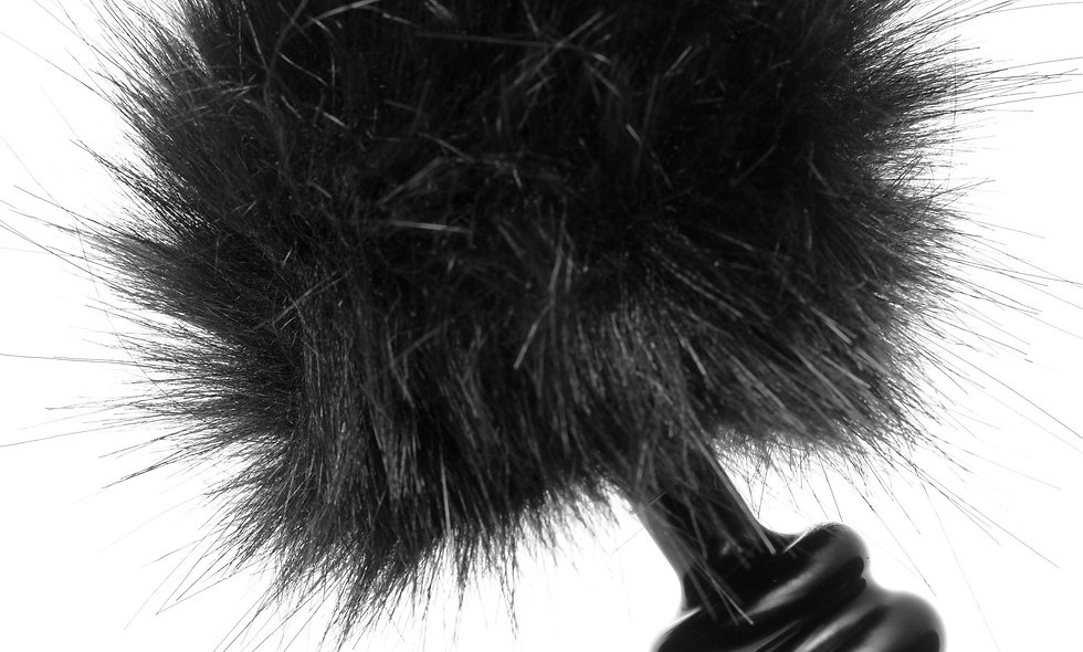 Black Bunny Tail Anal Plug