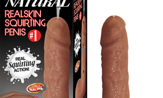 #1 Natural Realskin Squirting Penis - Brown