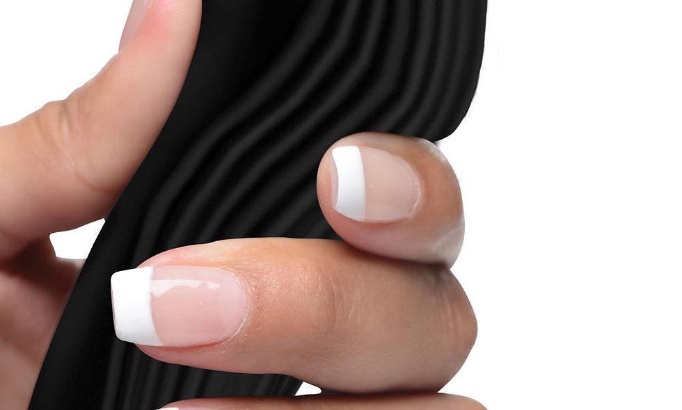 7x Bendable Silicone Clit Stimulating Vibrator - Black