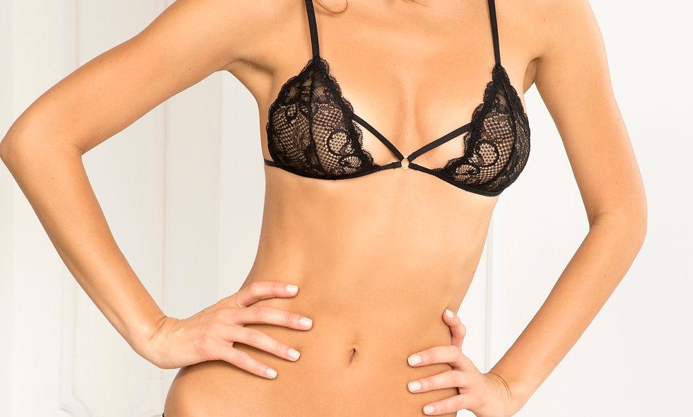 2 Pc Proactive Lace Bra and Panty Set  - Medium/ Large - Black