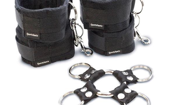 5 Piece Hog Tie and Cuff Set - Black