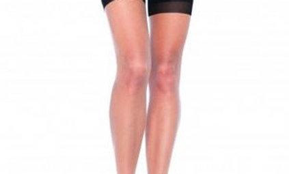 2 Tone Stockings - One Size - Nude/ Black