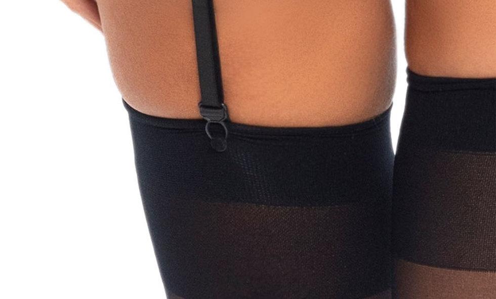 3pc Lace Bra Top Set - Black - Large