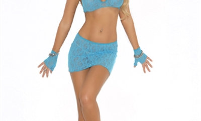 3 Piece Lace Cami Top Set - One Size - Turquoise