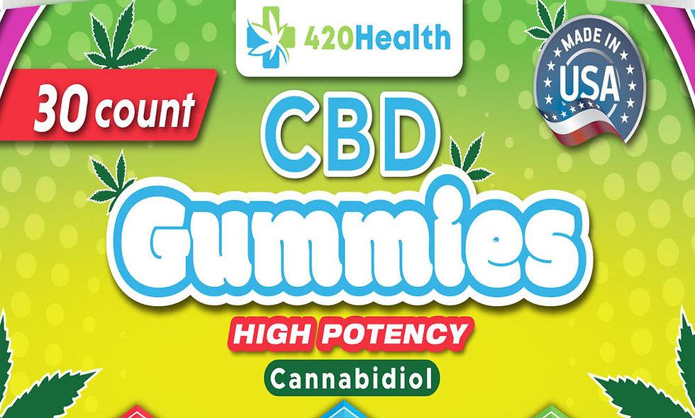 420 Health Hemp Gummies- 30ct Bottle 600mg 20mg