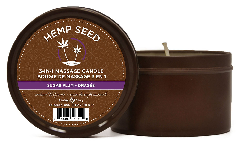 3-in-1 Massage Candle Sugar Plum 6oz