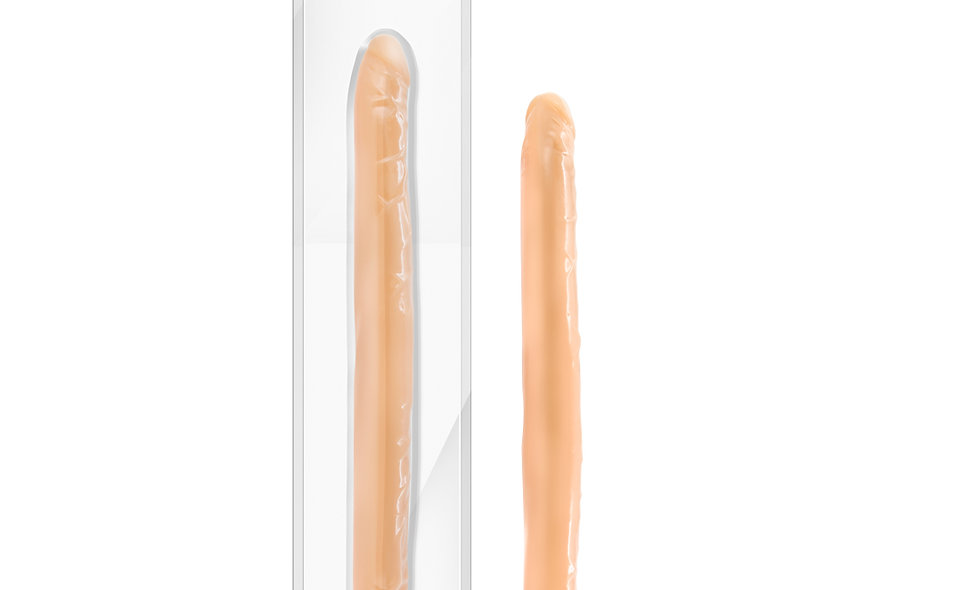 "B Yours 16"" Double Dildo - Beige"