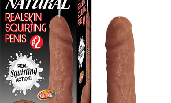 #2 Natural Realskin Squriting Penis - Brown