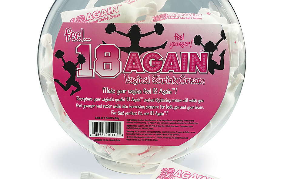 18 Again Vaginal Shrink Cream - 72 Count Fishbowl
