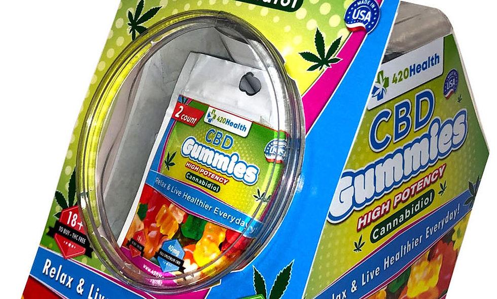 420 Health Hemp Gummies- 2ct- 40mg- 25pc Display
