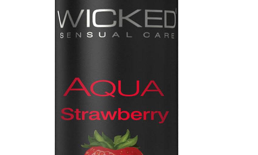 Aqua Strawberry Water-Based Lubricant 1 Oz
