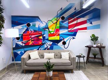 Celonis Rebrand Mural