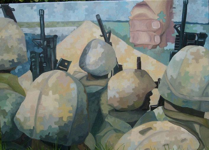 Syv Soldater & Mor Danmark - 110X120