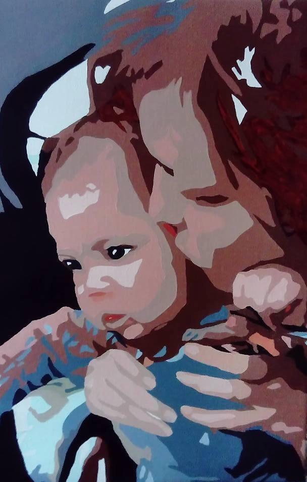 Mor og barn - 60cmX40cm