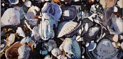 Strandbred, triptychon, pr stk 60x40 cm